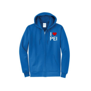 Blue zipper hoodie