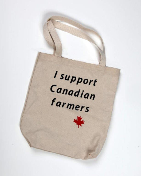 I support canadian farmers tote